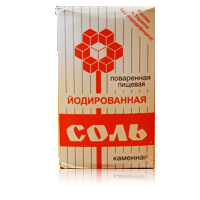 Соль каменная йодированная, 1 кг, картон
