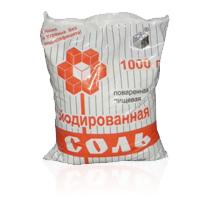 Соль каменная йодированная, 1 кг, ПЭТ