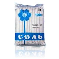 Соль каменная пищевая, 1000 г, ПЭТ